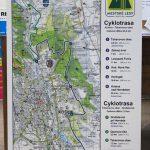 Dibondová tabuľa - Mapa Cyklotrasy
