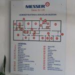 Orientačná tabuľa pre firmu Messer