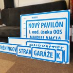 PVC tabule - označenie