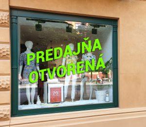 Predajňa otvorená