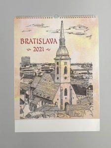 Bratislava nástenný kalendár