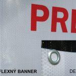 Reflexný banner - po osvetlení svieti