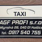 Označenie vozidla taxislužby