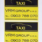 Magnetické nálepky na taxi