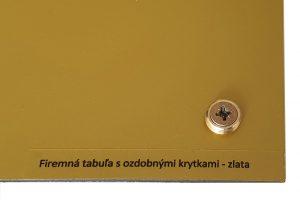 Krytky na skrutky zlaté lesklé