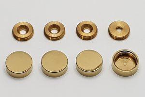 Krytky na skrutky zlaté - sada 4ks