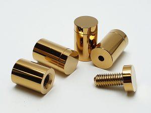 Ozdobné skrutky zlaté lesklé