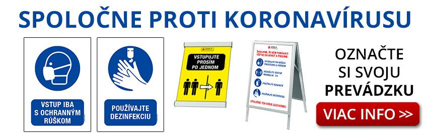 Koronavírus označenie prevádzky