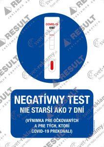 Nálepka Negatívny test