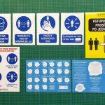 Nálepky na označenie prevádzky poti koronavírusu
