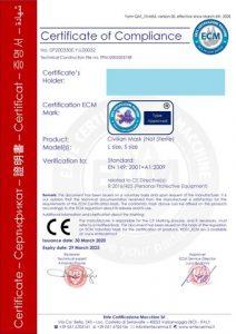 Certifikát na rúško