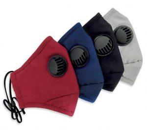 Rúška s ochranným filtrom a ventilom