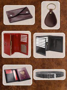 Reklamné predmety z kože a koženky