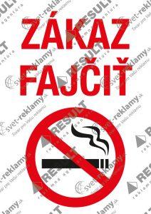 NálepkayZákaz fajčiť