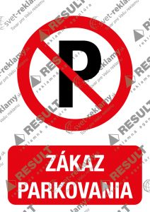 Nálepka Zákaz parkovať