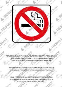Zákaz fajčenia - oznámenie o porušení zákona